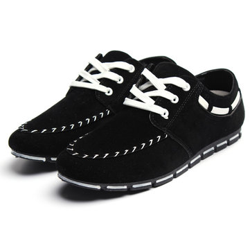 4 Colors Mens Trend Faux Suede Slip-On Sneakers